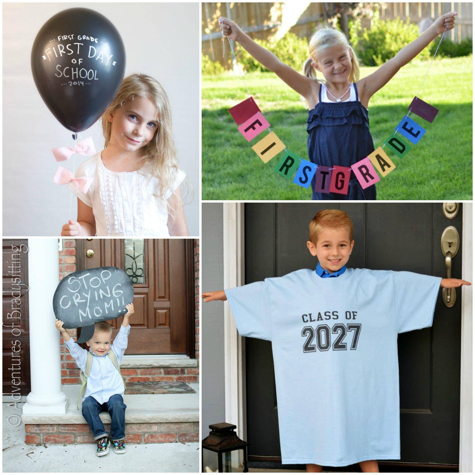 First Day of School Photo Ideas! First Photograph Date
