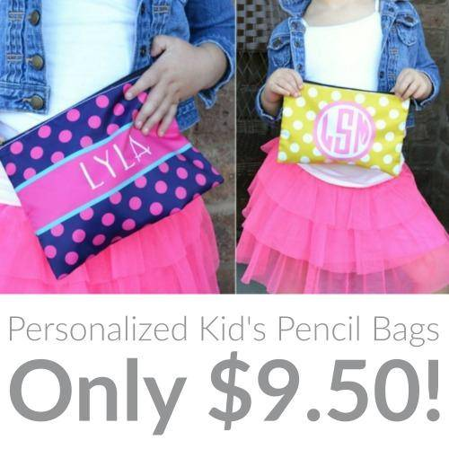 Personalized Kid's Pencil Bags