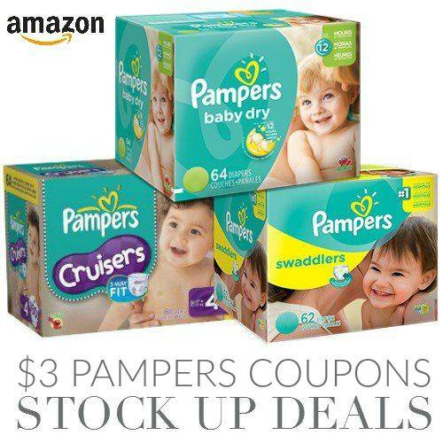 Amazon $3 Pampers Diapers Coupons