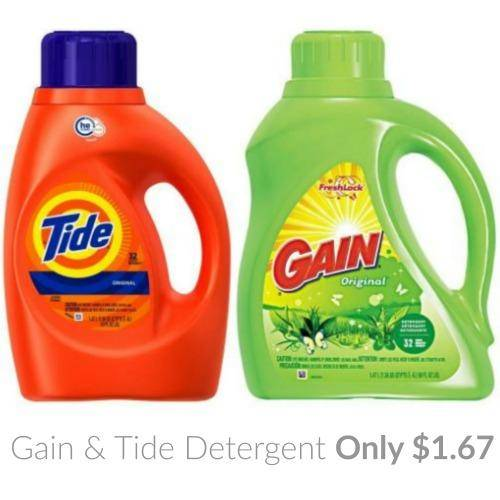 Gain & Tide Detergents Coupons