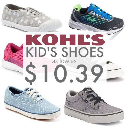 Kids Shoes Deals at Kohl's | As low as $10.39   Free Store Pick Up!