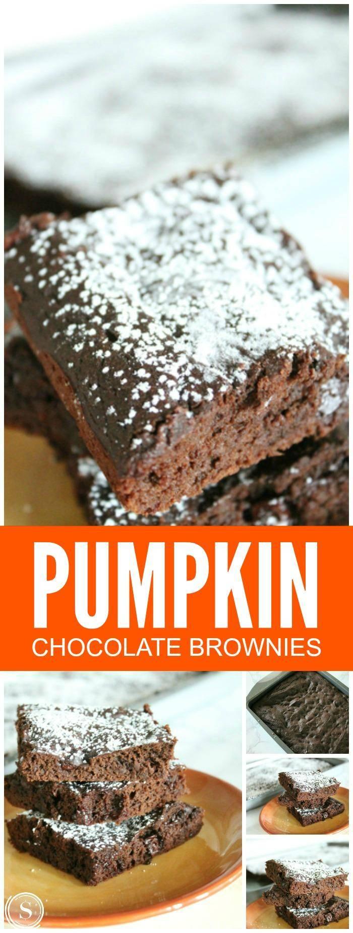 Pumpkin Chocolate Brownies