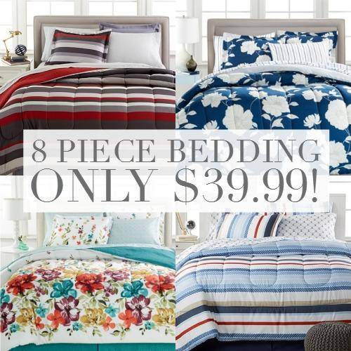 Macy S 8 Piece Bedding Sets Only 39 99 Up To California