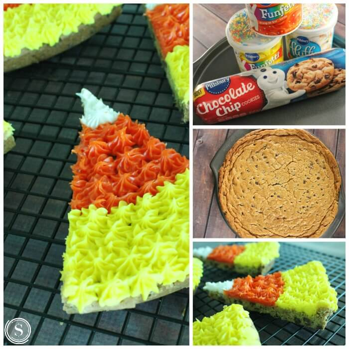 Candy Corn Cookie Cake Recipe