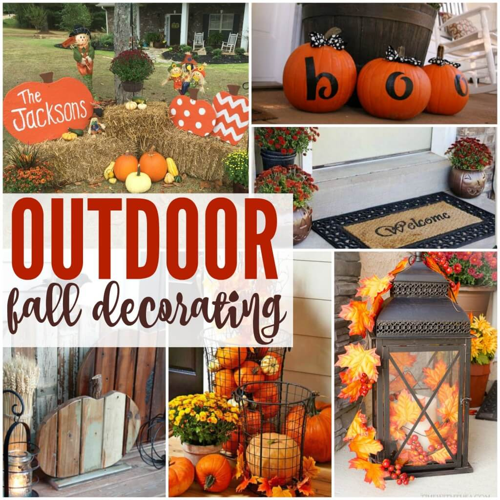 Outdoor fall decorating ideas for your home for Images of fall decorations outside