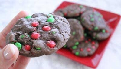 Chocolate M&M Cakemix Cookies Recipe!