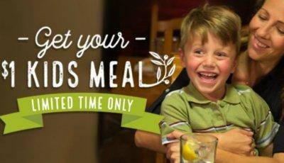 $1 Kids Meals With Adult Entree Purchase Featured