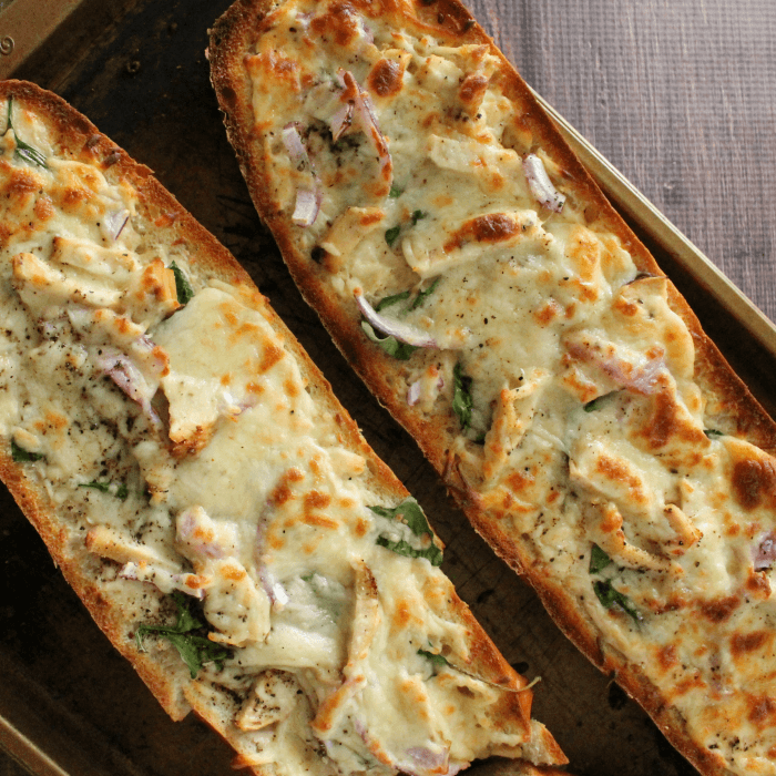 French bread chicken alfredo pizza recipe i have a delicious new recipe for you to try today this great french bread solutioingenieria Choice Image