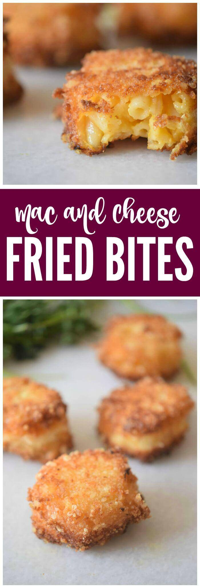 Fried Mac & Cheese Bites Recipe! Easy and Homemade the PERFECT Party Recipe or Snack for Friends!