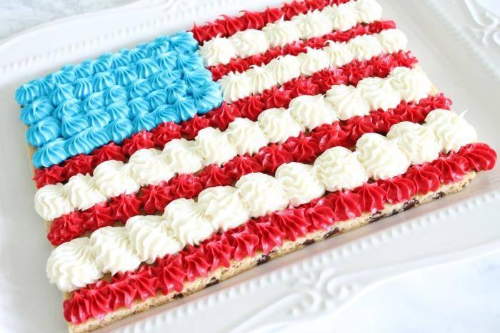American Flag Cookie Cake