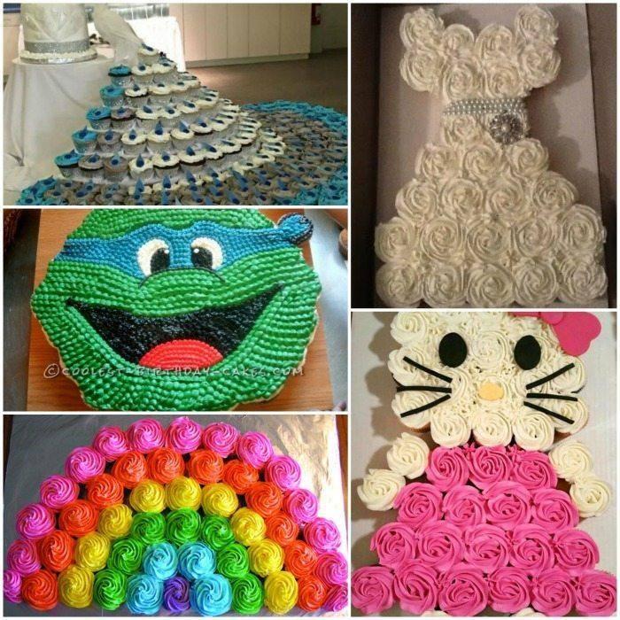 20 Amazing Pull Apart Cupcake Cakes