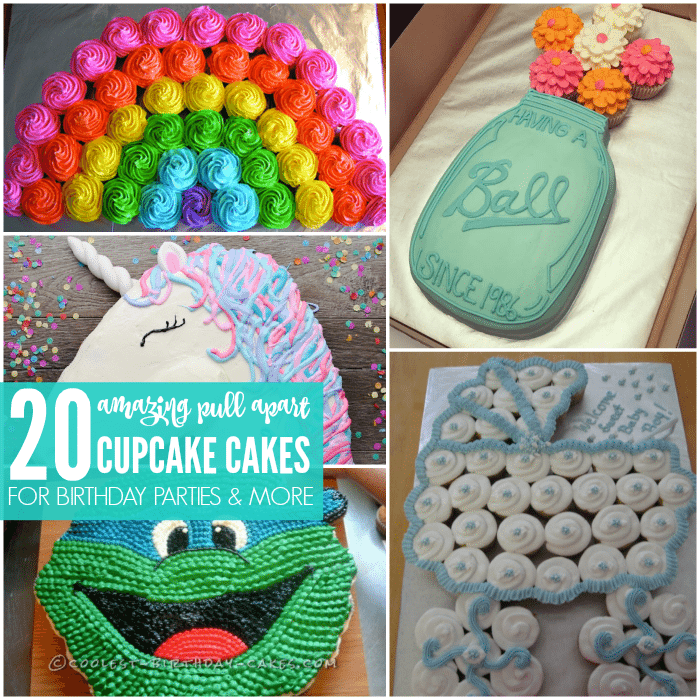 I Am LOVING These Cupcake Cake Ideas That You Can Try Today There Are 20 Amazing Pull Apart Recipes To So Check It Out