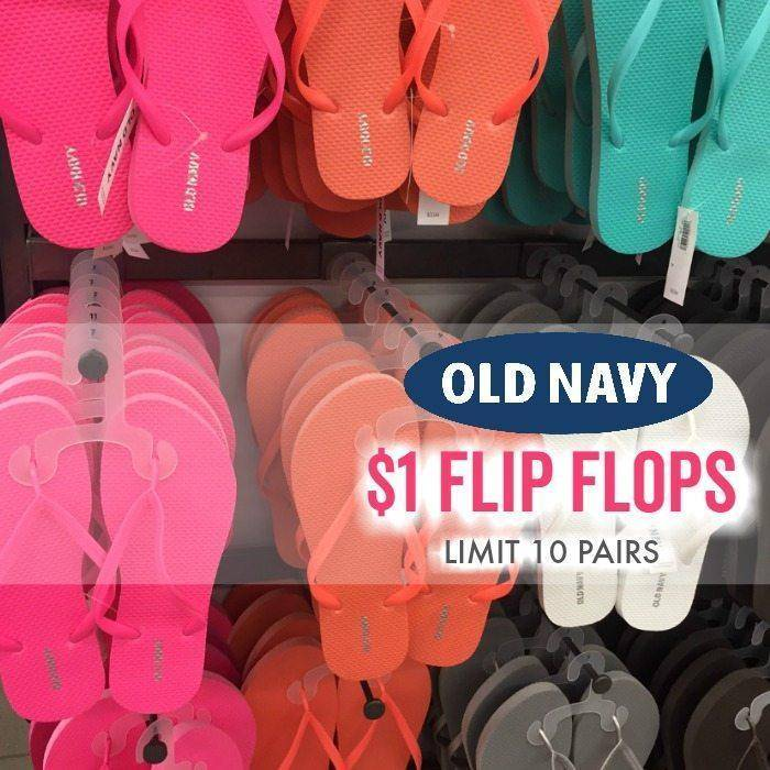DOLLAR FLIP FLOPS OLD NAVY 2019