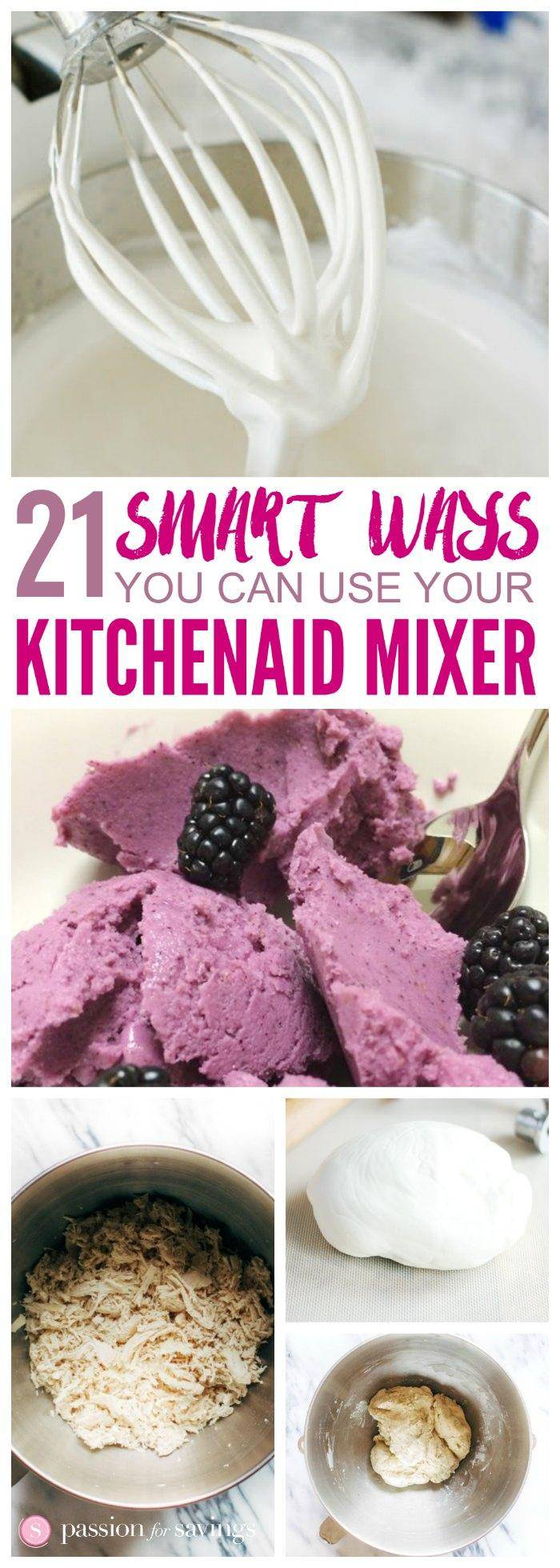 These 21 Smart Ways to Use Your KitchenAid Mixer are great if you're a new KitchenAid Owner, or just looking for new ways to use yours!