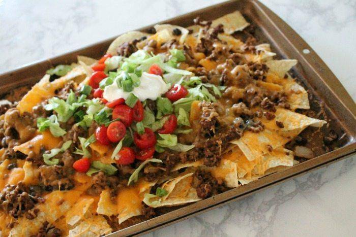 Try these Sheet Pan Nachos Recipe with Homemade Taco Seasoning for dinner tonight!