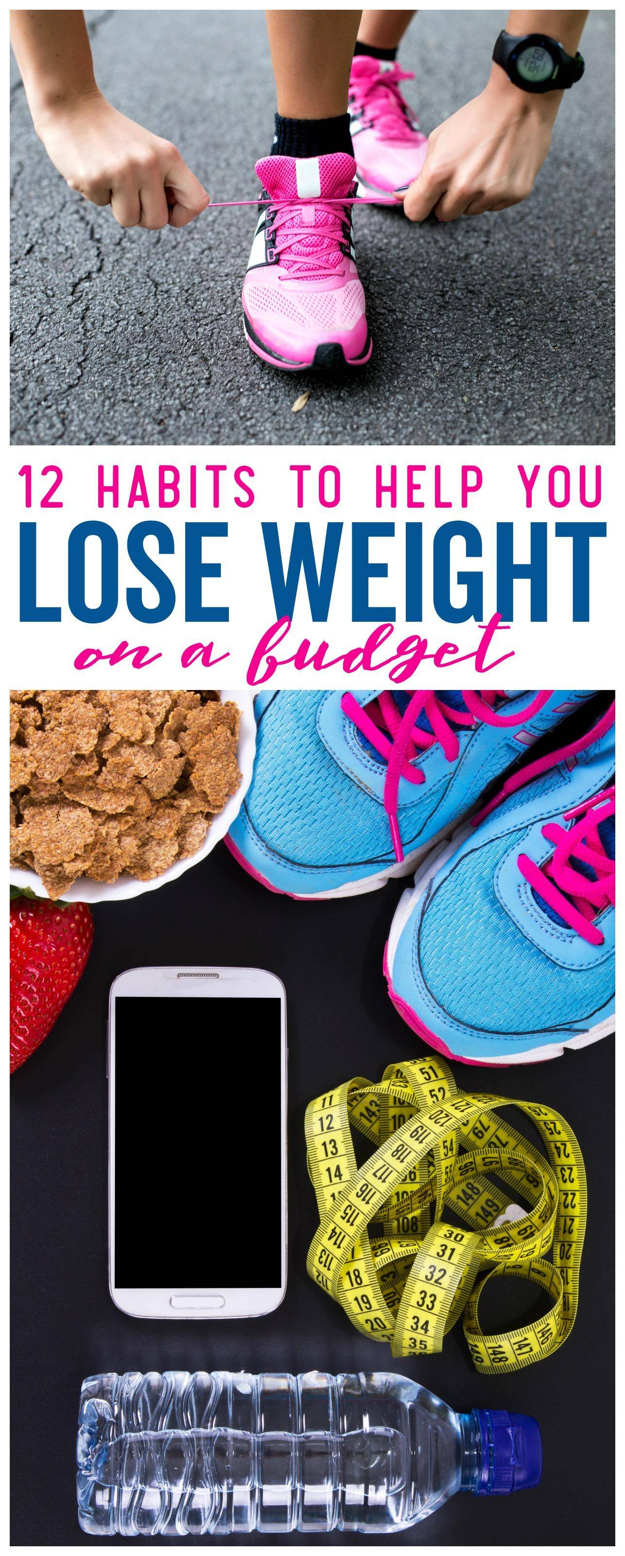 12 Habits to Help You Lose Weight on a Budget, Get In Shape, Eat Less and Look Your Best on a budget.