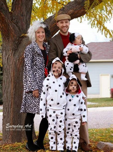 101 Dalmations Family Halloween Costumes