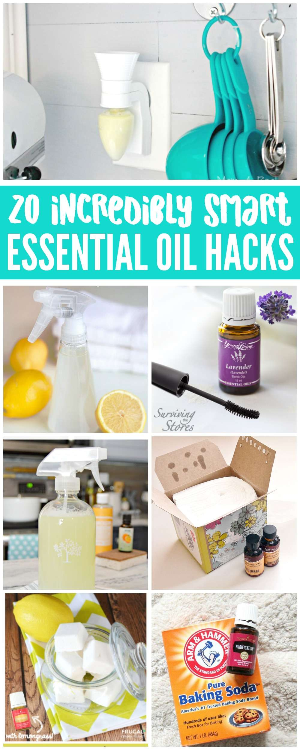 Essential Oil Cleaning Hacks that will make your life easier, clean your Bathroom, Kitchen, Living Room and more using these diy cleaning recipes with essential oils.