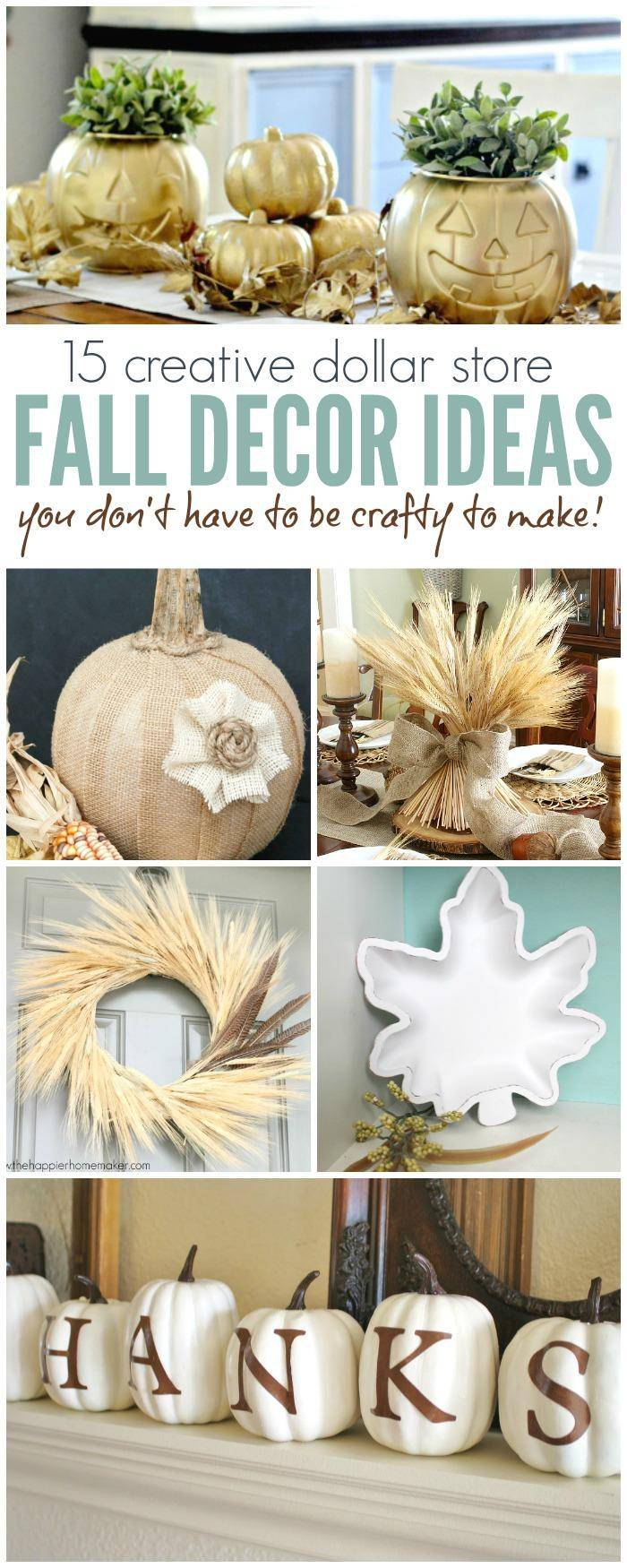 Dollar Store Fall Decor Ideas Anyone Can Make, Fall Table Settings, Thanksgiving Decorations and Pumpkin Makeovers to Decorate your Home for Fall