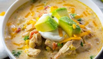 White Chicken Chili Crock Pot Recipe Featured