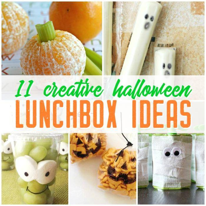 Halloween Lunchbox Ideas, Halloween Sandwiches, and Halloween Themed Snacks to make your kids smile when they sit down to eat at school!