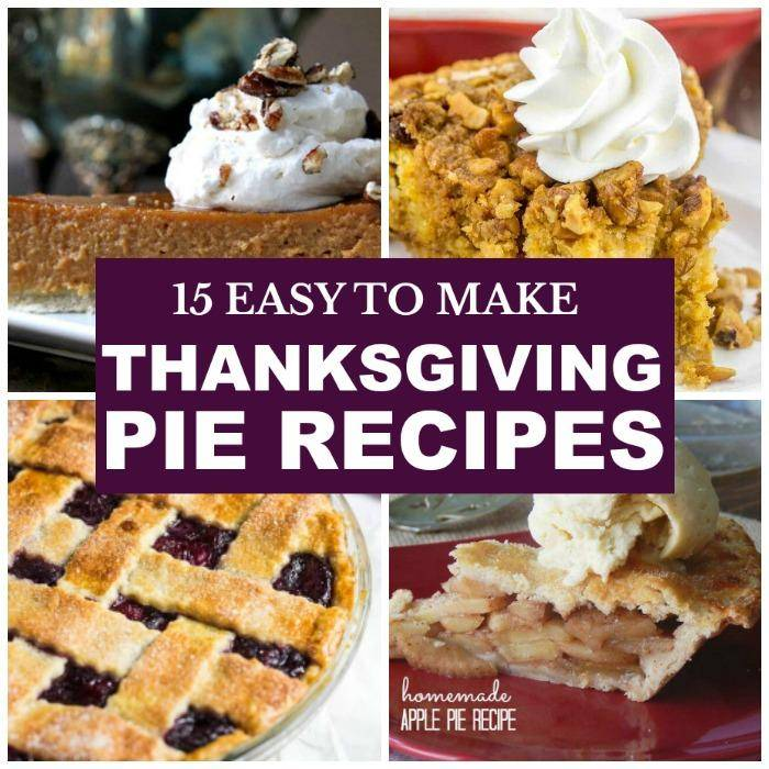 Thanksgiving Pie Recipes for Dessert will delight all your Thanksgiving guests! These delicious pie recipes for Thanksgiving are delicious!