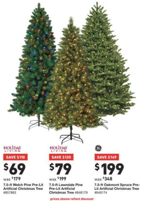 lowes black friday ad 2017 deals store hours ad scans lowes also has some great deals on christmas trees you can get the 75 pre lit christmas tree - Lowes Live Christmas Trees