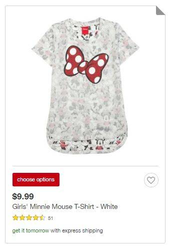 8c8d44f3c This Disney Girls Minnie Mouse Shirt is priced at just $9.99 right now +  You can save an extra 5% with your Target Red Card!