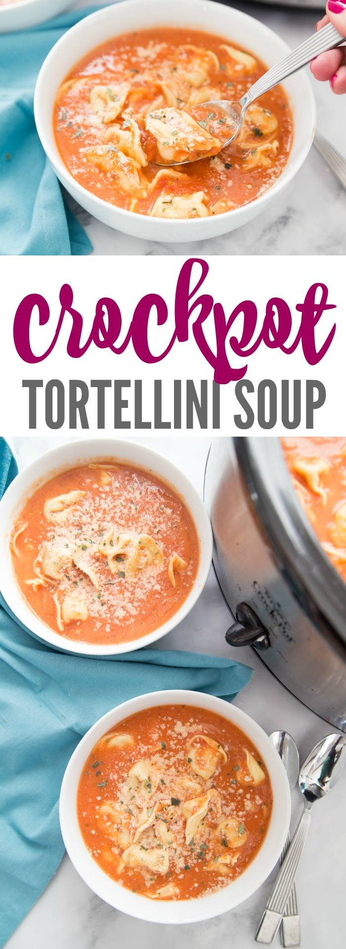 Easy Crockpot Tortellini Soup Recipe! Save time and money in the Kitchen with this Family Dinner Meal Idea and Slow Cooker Recipe That Everyone Will Love!
