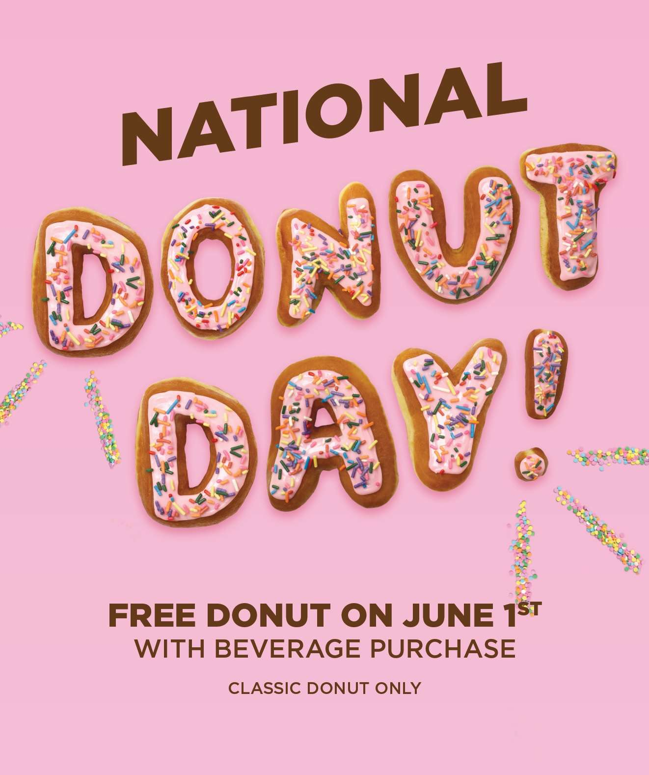 Dunkin Donuts National Donut Day Free Donut