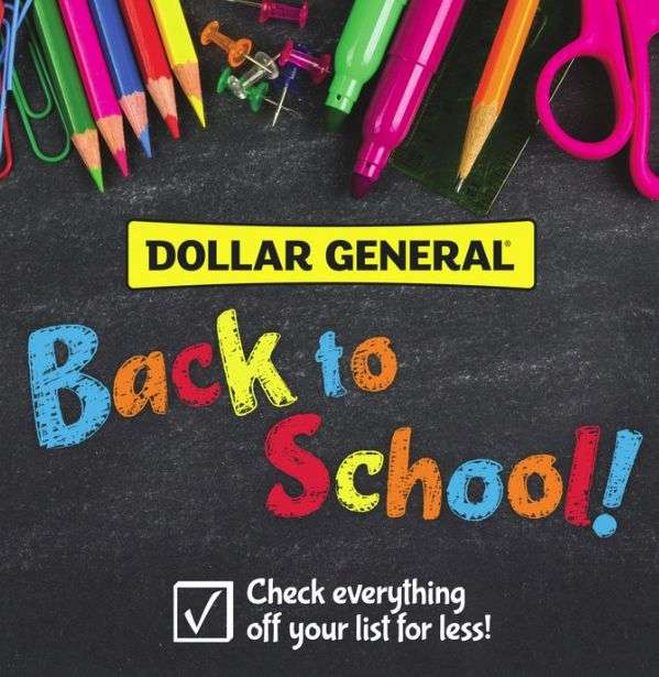 Dollar General Back to School Deals 2021 and School Supply Sales