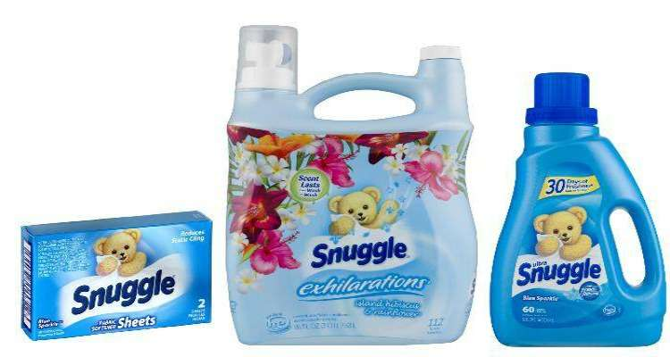 Printable Snuggle Coupons for Fabric Softener and Dryer Sheets