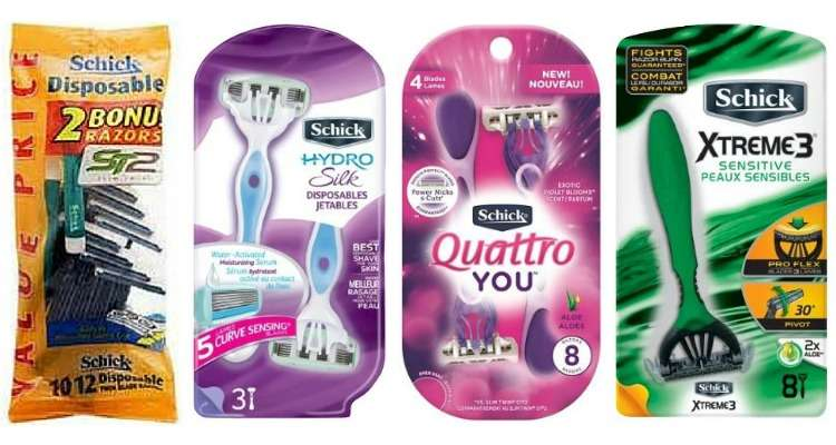 Printable Schick Coupons for Razors