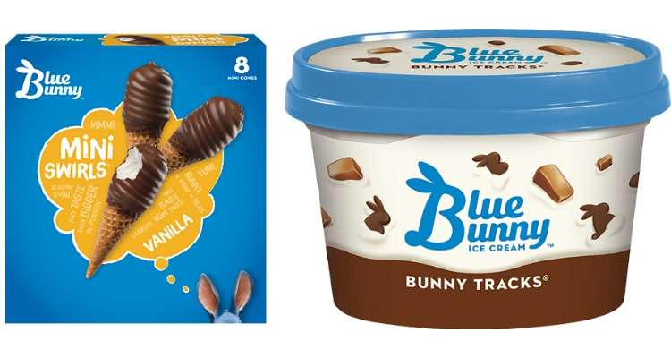 Printable Blue Bunny Coupons for Ice Cream Tubs and Bars