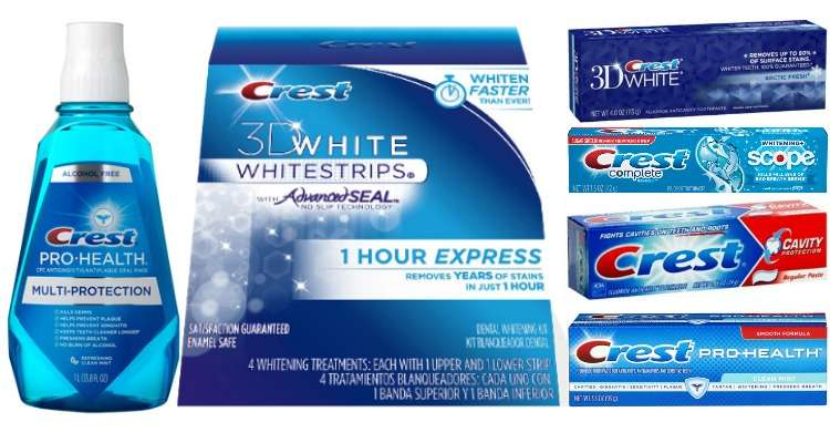 Printable Crest Coupons for Toothpaste, Mouthwash and White Strips