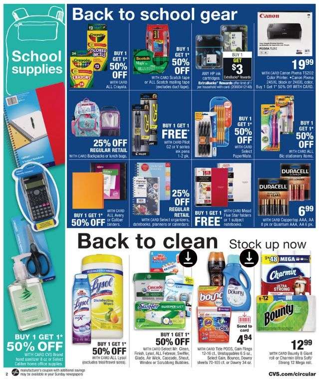 photo relating to School Supply Printable Coupons named CVS Back again toward Faculty Offers 2019 Higher education Materials, Backpacks