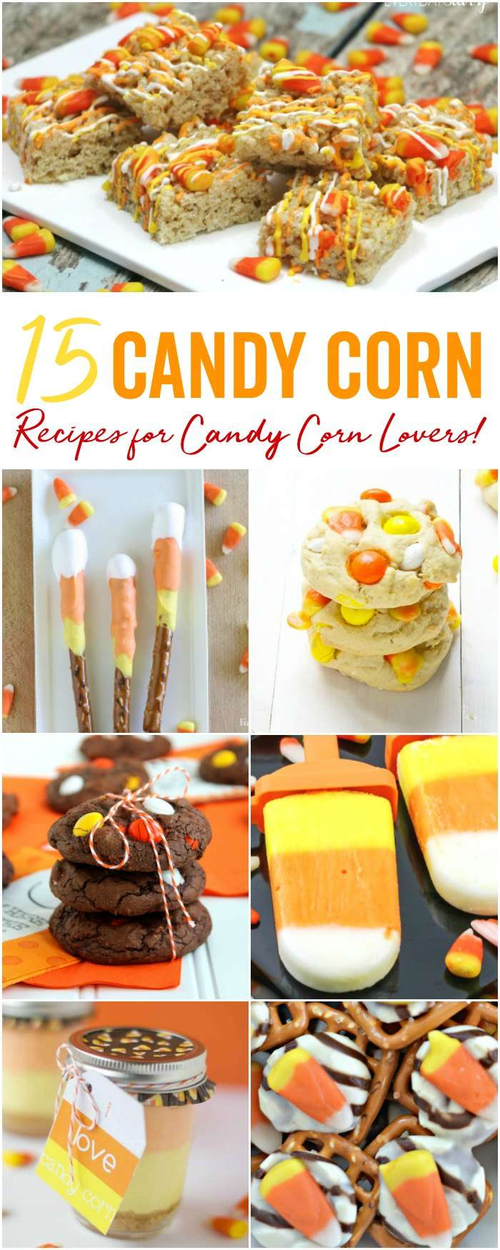 Candy Corn Recipes, Halloween Snacks for Party, and Fall Desserts for all your party planning during the Fall and Halloween Season!
