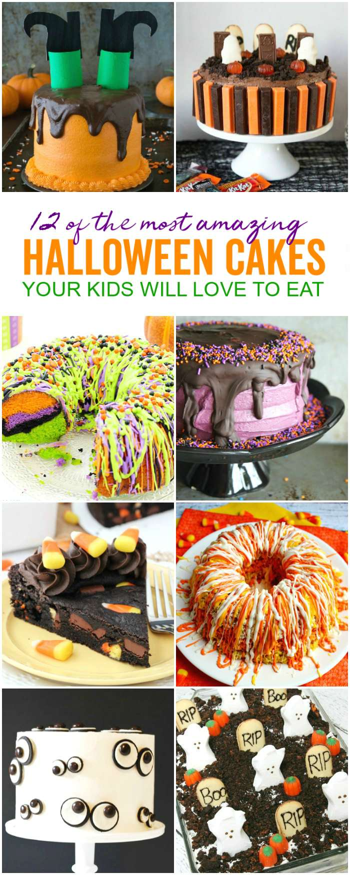 Halloween Cakes, Easy Halloween Cakes, Halloween Cakes for Kids, and Halloween Cake Ideas for the cutest Halloween Party Cakes!
