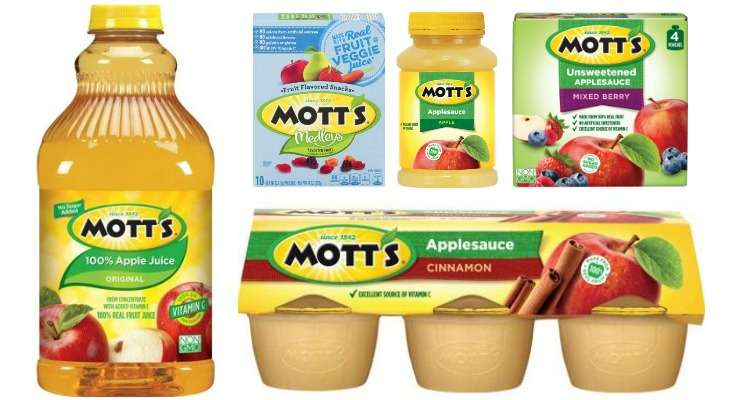 Printable Motts Coupons for Juice, Apple Sauce and Fruit Snacks