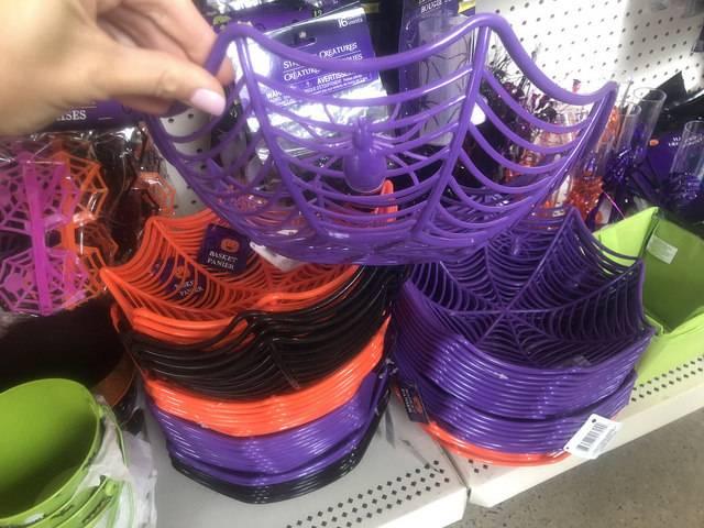 Dollar Tree Halloween Finds - Spider Web Baskets