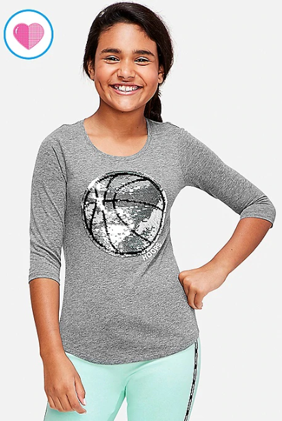 i see several flip sequin 34 sleeve tees priced at just 999 i loved the basketball one because my daughter plays