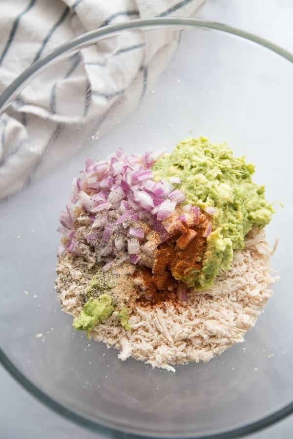 healthy avocado chicken salad recipe
