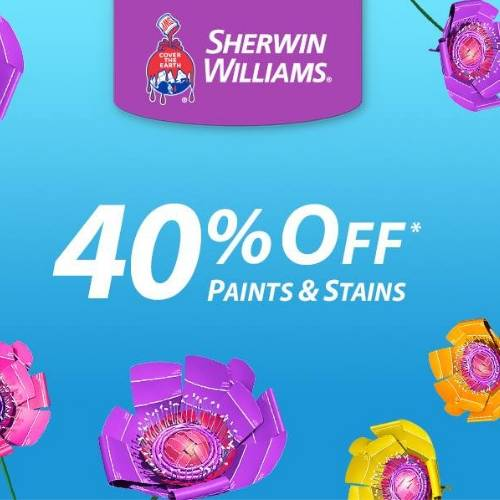 image about Sherwin Williams Printable Coupon identified as Sherwin Williams Discount codes for $10 off $50 + Paints Stains