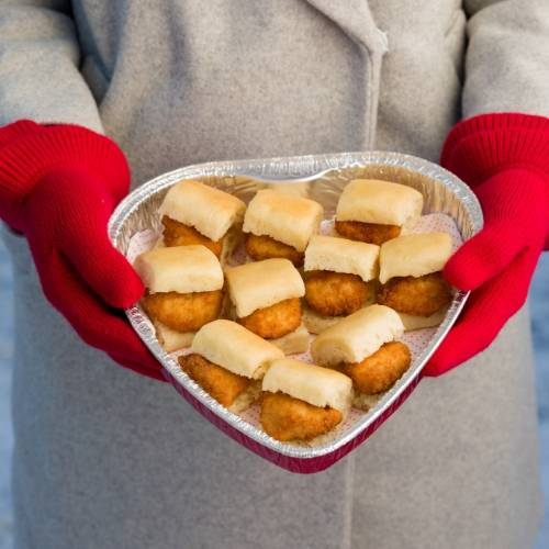 Chick Fil A Valentines Day Heart Shaped trays
