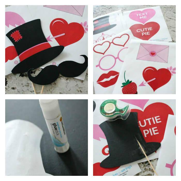Photo booth printables for valentines day