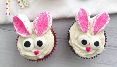 Easter Bunny Cupcake Idea for Kids!