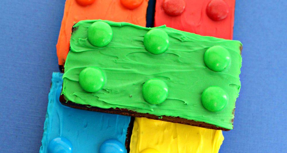 Lego brownies for birthday party
