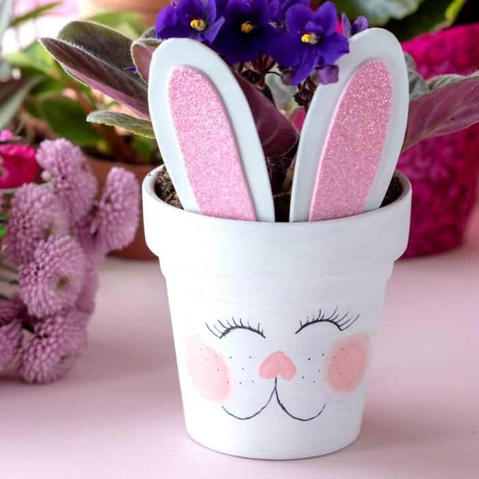 Home Craft Ideas Easter Bunny Flower Pot Craft Flower Pot: Easter Bunny Flower Pots