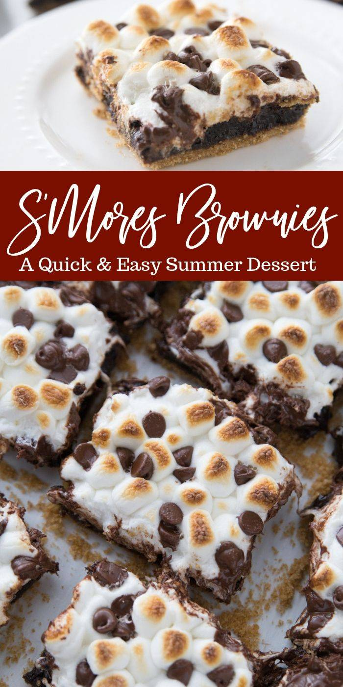 S'Mores Brownies pin image