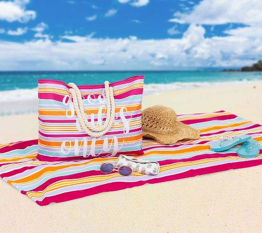 Beach Towel And Tote Bag Set Only 12 99